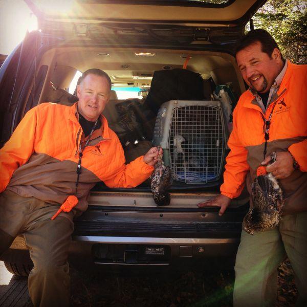 Mike and Carmine 2015 adirondack grouse