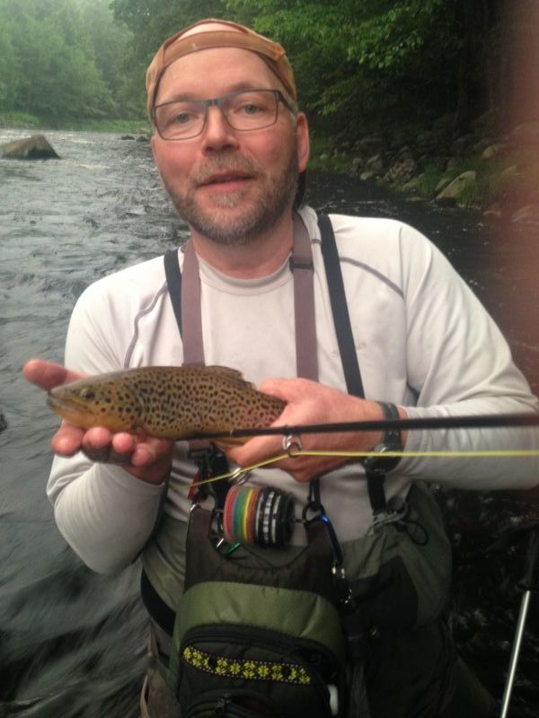 Luc's high water brown trout on the west branch of the Ausable River