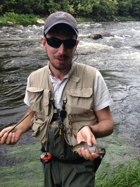 Adirondack brookie caught Fly Fishing in the Adirondacks with Nessmuk's Guides!