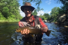 Julian's awesome ausable brown trout