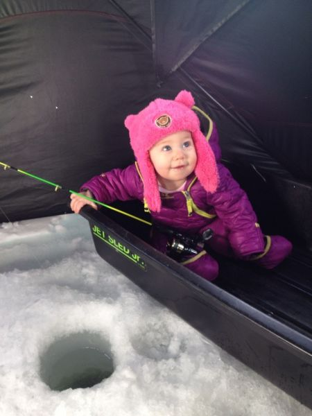Finnley Ice fishing 2