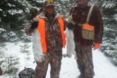 Ralphs's first snowshoe hare! He is a quick learner! Like a coyote!:)