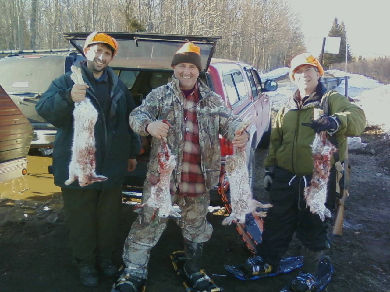 Guided snowshoe hare hunts in the Adirondacks. www.flyfishADK.com