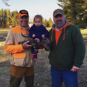 Scott Finnley and Todd grouse camp 2015